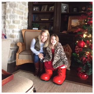 Ellie stole santa's shoes